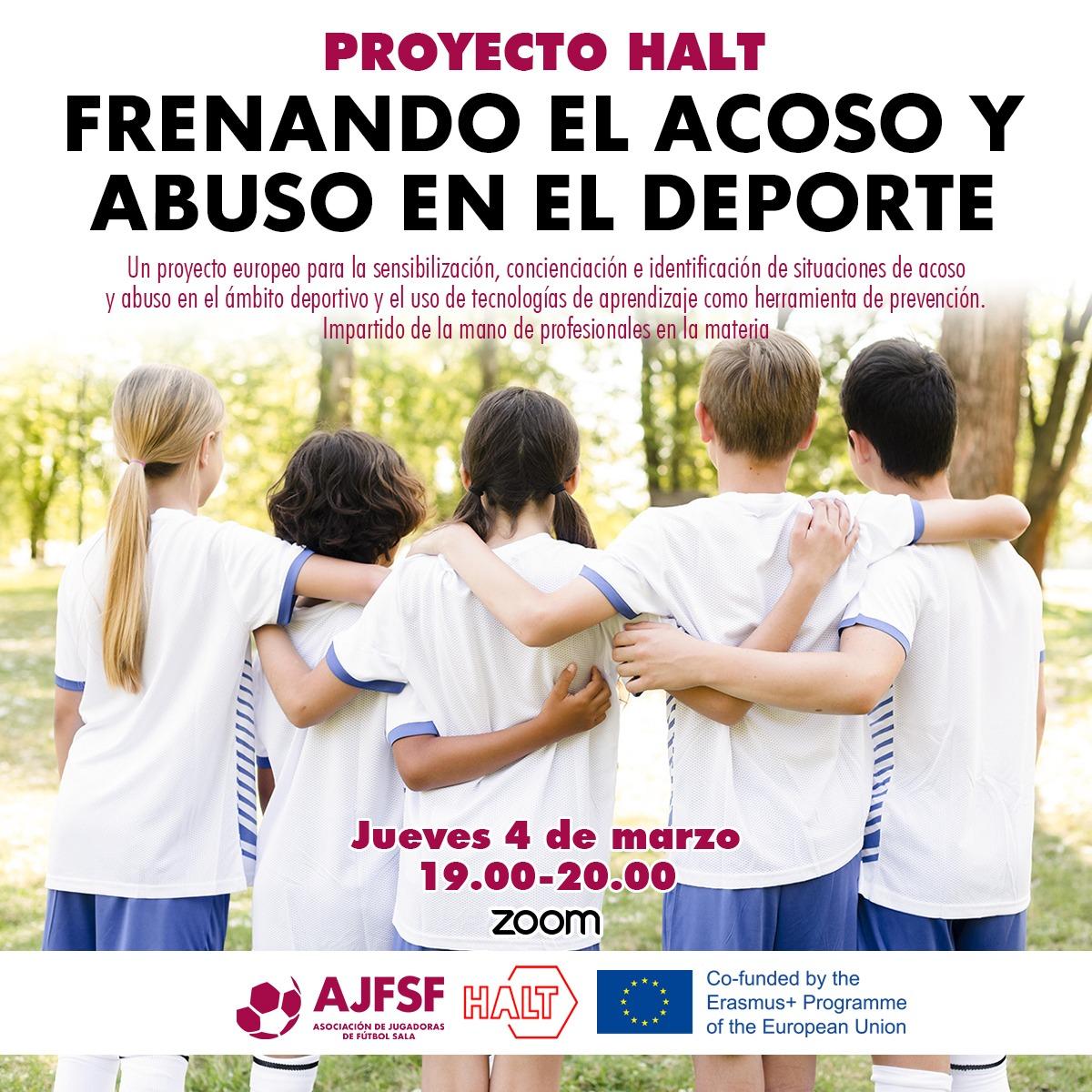 """Presentación del proyecto Europeo HALT, a través del seminario: """"Frenar el acoso y abuso en el deporte"""""""